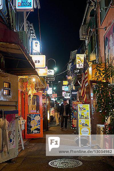 Nightlife in Golden Gai alley  Tokyo  Japan