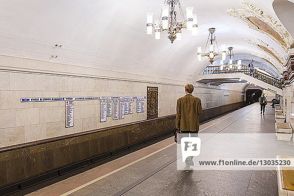 Belorusskaya metro station  Moscow  Russia