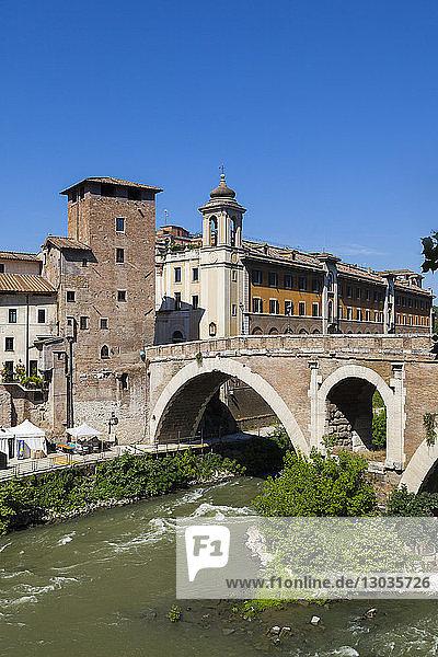 Fabricio bridge (Ponte Fabricio)  Rome  Lazio  Italy