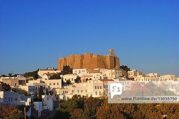 The Monastery of Saint John the Theologian  UNESCO World Heritage Site  Patmos  Dodecanese  Greek Islands  Greece