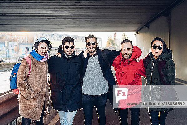Friends on city break  Milan  Italy