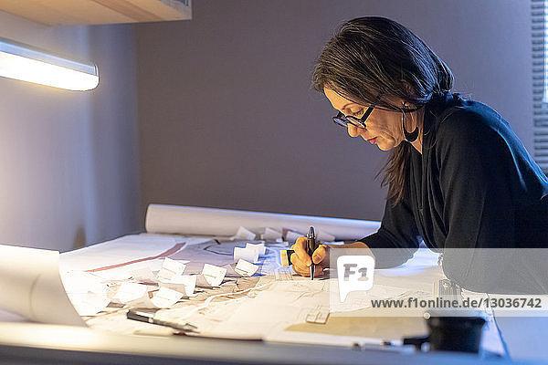 Frau  die im Home Office arbeitet