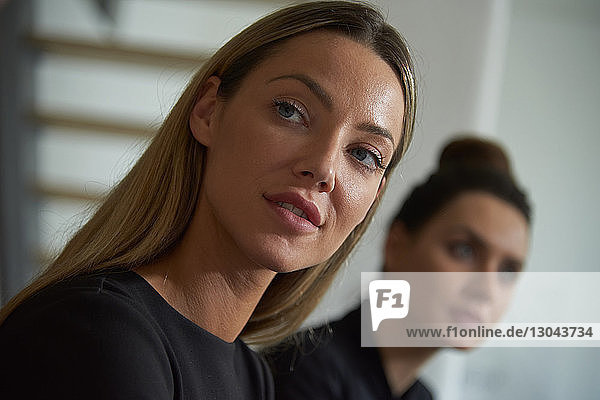 Businesswoman looking away during business meeting at office