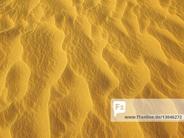 Close-up of sand in desert