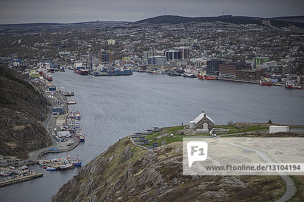View of bay and harbor  St. Johns  Newfoundland  Canada View of bay and harbor, St. Johns, Newfoundland, Canada