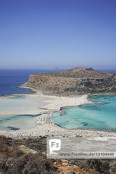 Scenic view of Balos Beach  Crete  Greece