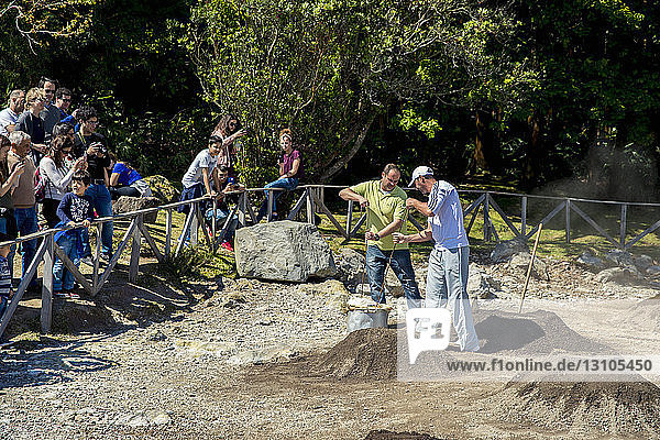 Furnas Stew  Underground Slow Cooking; Furnas  Sao Miguel  Azores  Portugal