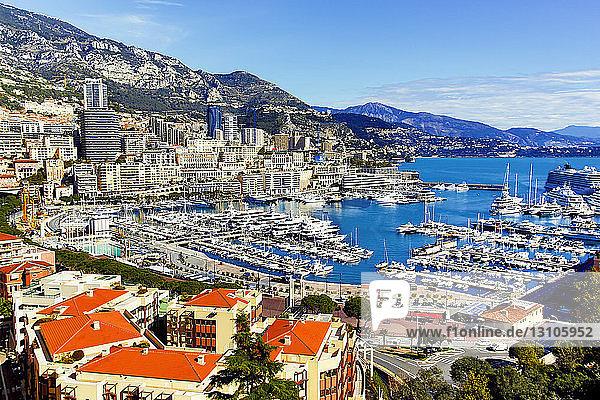 Port of Monte Carlo on the French Riviera; Monte Carlo  Monacco