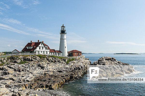 Portland Head Lighthouse; Cape Elizabeth  Maine  United States of America