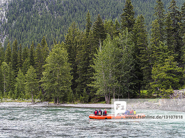 Water rafting  Jasper National Park; Alberta  Canada