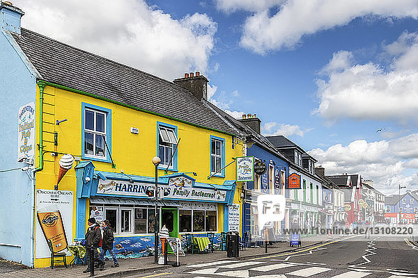 Colourful storefronts in an Irish town; Dingle  County Kerry  Ireland