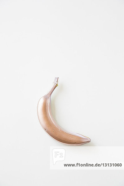 Painted banana on white background