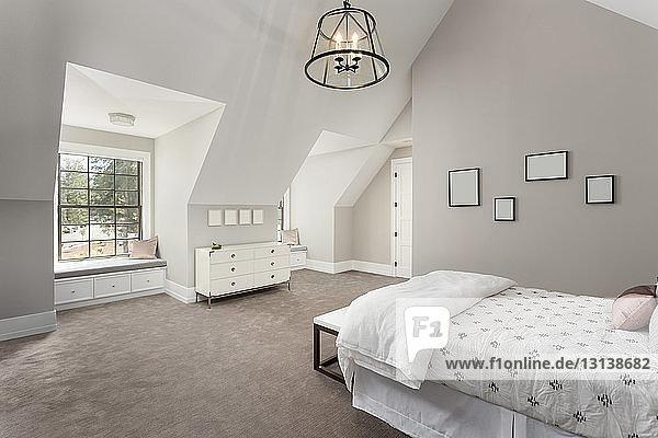 Interieur eines modernen Schlafzimmers