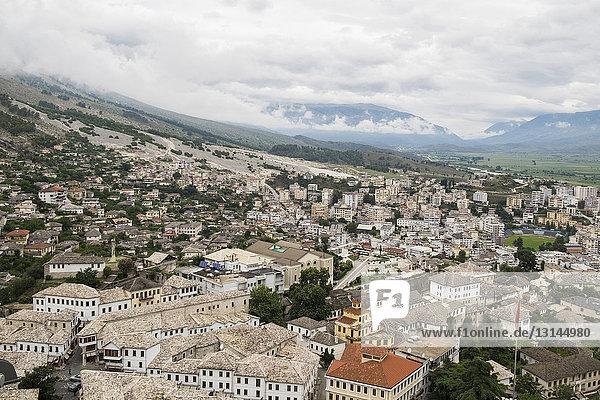 Albania  Gjirokaster  landscape