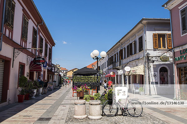 Albania  Shkoder  old town  daily life