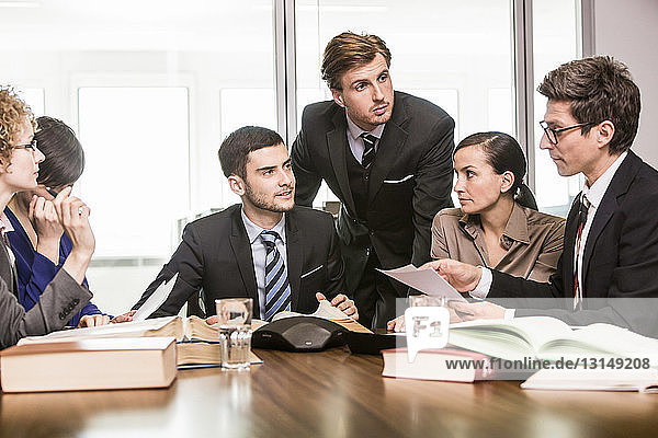 Lawyers in meeting