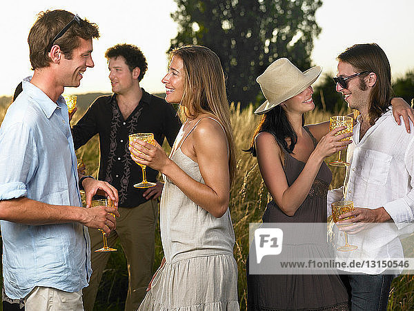 People at a cocktail party
