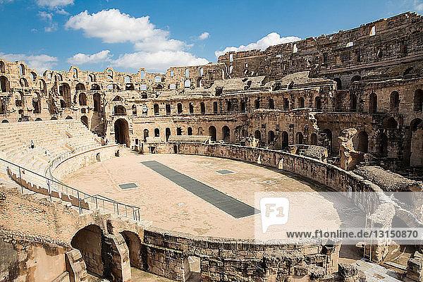 View of amphitheatre  El Jem  Tunisia