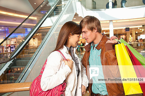 Young couple in the shopping mall