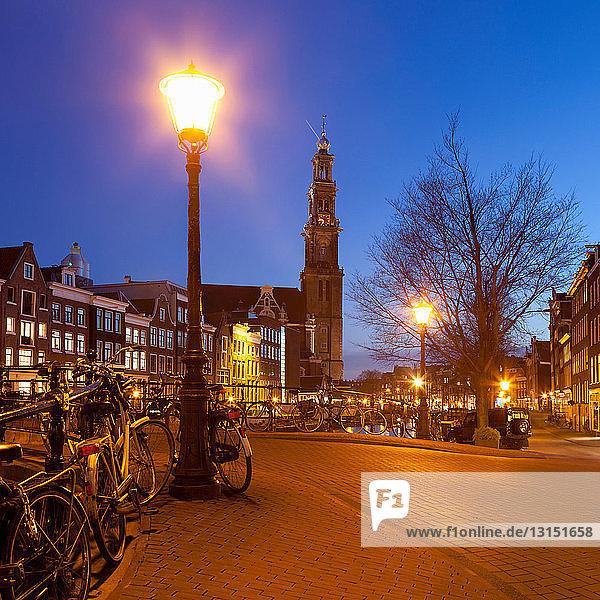 Westerkerk (Western Church) from Leliegracht in Amsterdam  Netherlands Westerkerk (Western Church) from Leliegracht in Amsterdam, Netherlands