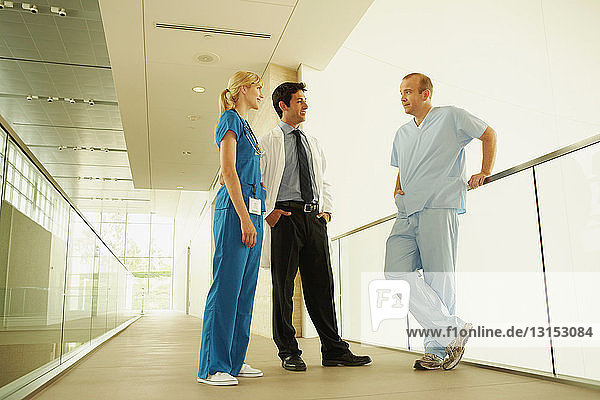 Medical personnel in modern facility
