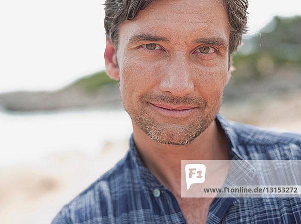 man smiling at viewer