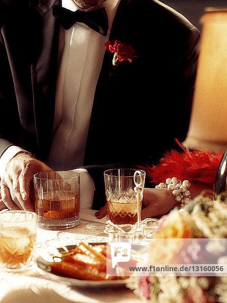 1920s style dinner scene 1920s style dinner scene