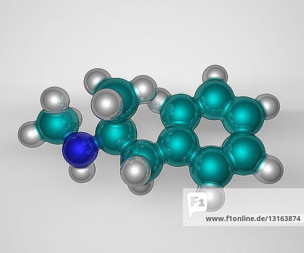 Molekulares 3D-Modell von Methamphetamin