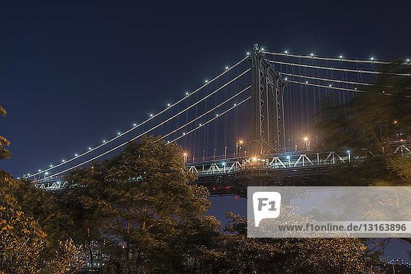Brooklyn Bridge  Manhattan  New York  USA