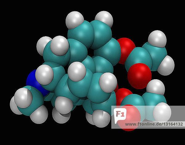 3D molecular model of heroin