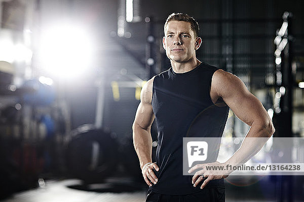 Portrait of a trainer in gym