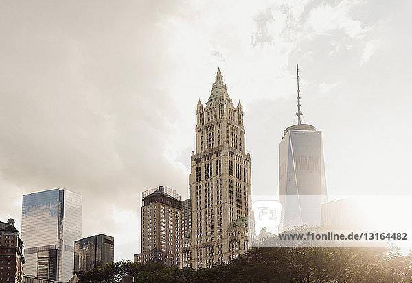 Wolkenkratzer  Lower Manhattan  New York  USA