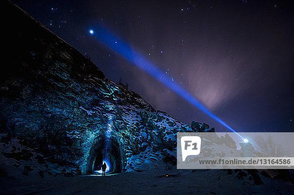 Jupiter und Sterne  Kettle Valley Rail Trail  Naramata  Britisch-Kolumbien  Kanada