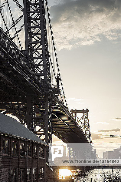 Williamsburg-Brücke  Williamsburg  Brooklyn  New York  USA