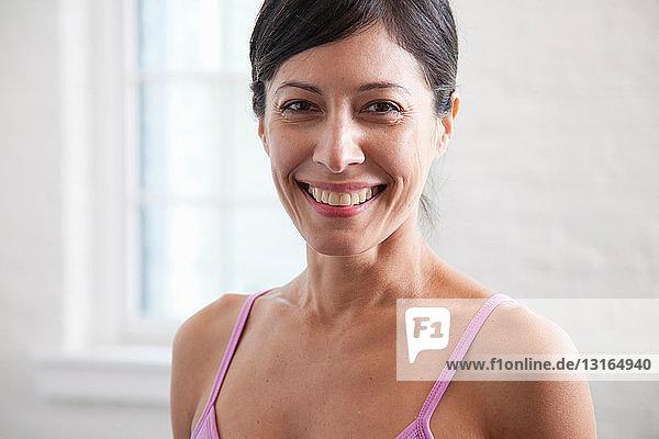 Reife Frau lächelnd  Porträt