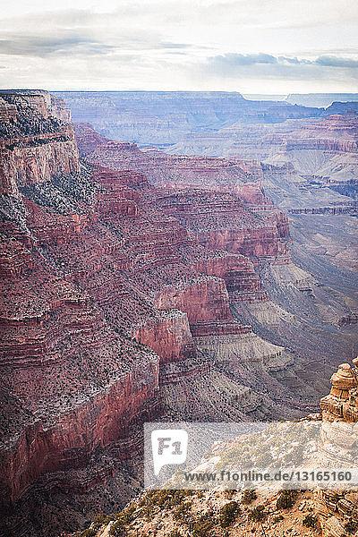 Blick auf das Tal im Grand Canyon  Arizona  USA