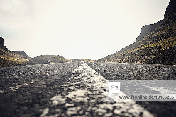 Road through harsh landscape