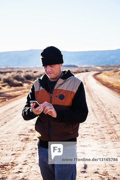 Man lost on road trip  Kayenta  Arizona  USA