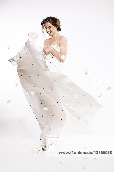 Modell im Abendkleid