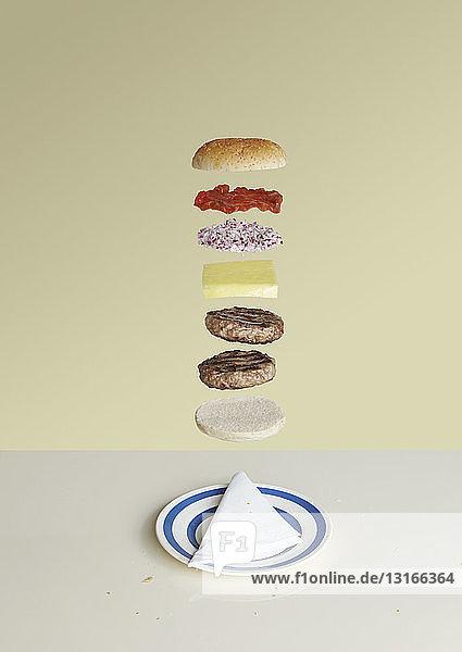 Cheeseburger deconstructed