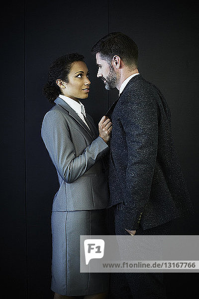 Portrait of couple in business clothing