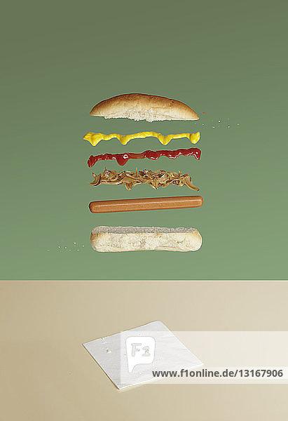 Hot dog deconstructed