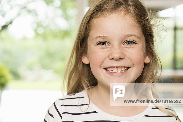 Girl with wide smile
