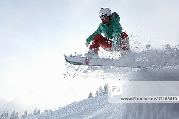 Snowboarder  Fellhorn  Deutschland