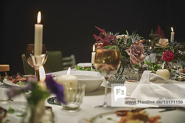 Dining table  close up