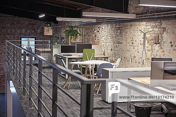 Interior of a modern industrial style loft office