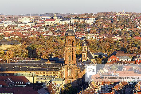 Germany  Bavaria  Wuerzburg  Old town  Neubaukirche  Missio clinic in the background