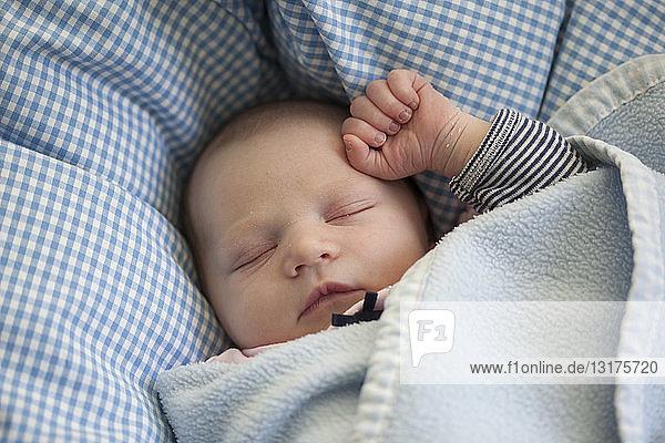 Porträt eines schlafenden Mädchens