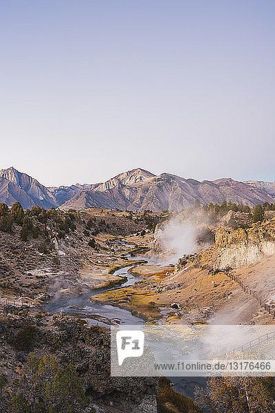 USA  Kalifornien  Hot Creek in Mammoth Lakes
