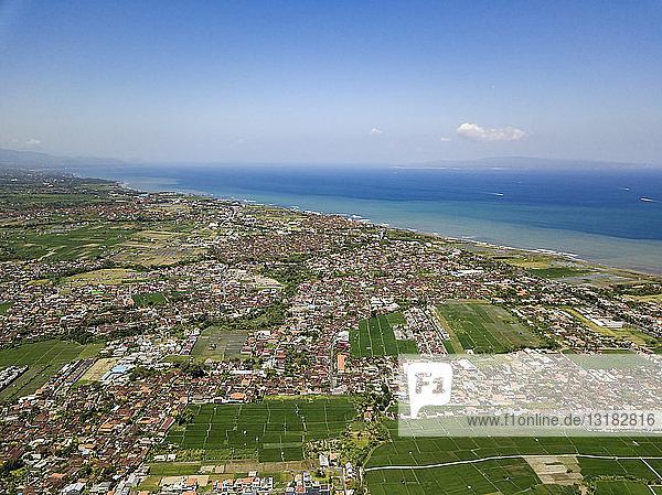 Indonesien  Bali  Luftaufnahme von Sanur